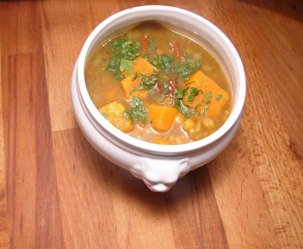 Süßkartoffel-Linsen-Eintopf
