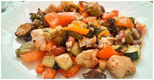 Low carb Auflauf mit Gemüse