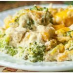 Hühnchenfilet in Erdnuss-Coriander Soße mit Brokkoli
