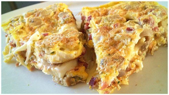 Low Carb Gefülltes Omelett