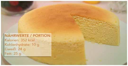 Low Carb käsekuchen mit eiweisspulve