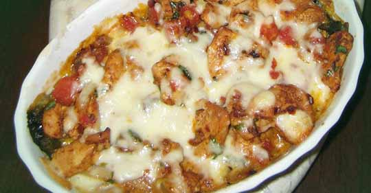 Hähnchen chile relleno casserole